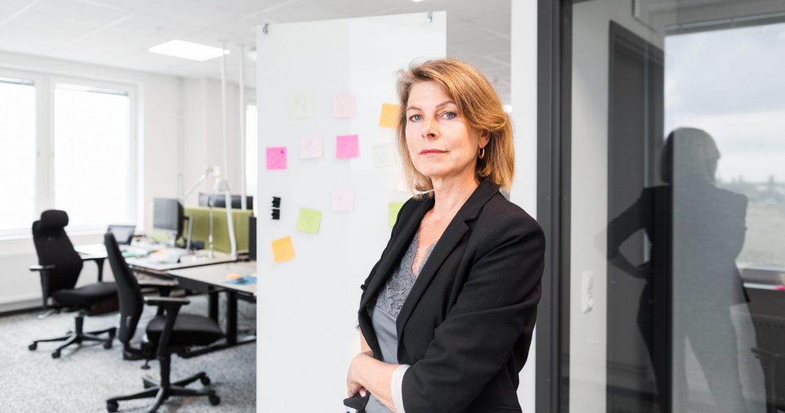 Portrait of mature woman in office